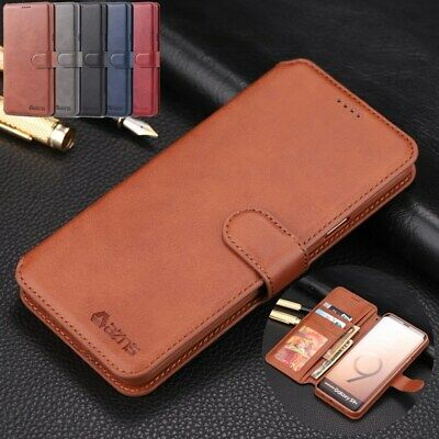 For Samsung Galaxy Note 9 S9 Plus Magnetic Leather Stand Wallet Phone Case Cover