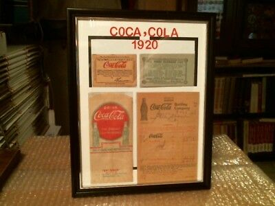 COCA-COLA 1920's ORIGINAL VINTAGE COUPONS, DRY SERVER, RECEIPT CUSTOM DISPLAY
