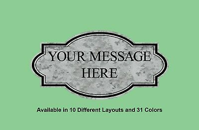 Personalized Custom Laser Engraved Accent Border Plastic Signs, Indoor & Outdoor