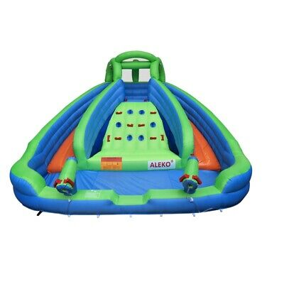 ALEKO Outdoor Water Slide Bouncer 21x14x7.5 feet with Climbing Wall and Blower