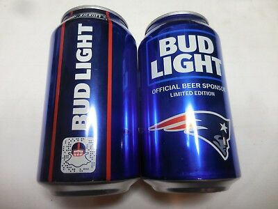 2018 New England Patriots Tom Brady NFL Bud Beer Can # 66686 Limited Edition