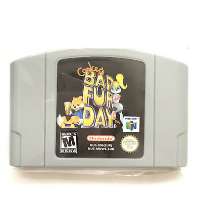 New Conkers Bad Fur Day Nintendo 64 Game Card Cartridge PAL N64 Tested* Cleaned*