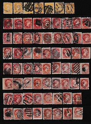 Decimal,Nth America,Canada,Early Canadian Stamps, Inc: QV 3c Red x 91,Used,#1883