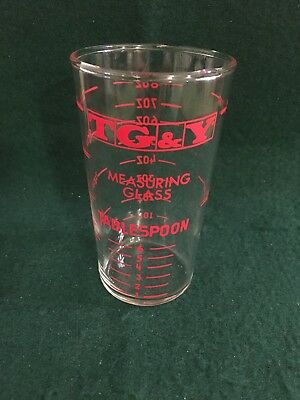 Vintage TG&Y - Measuring Glass, Tablespoon, Pint, OZ And Cup- Beautiful Item!