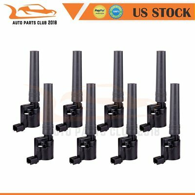 IGNITION COIL SET of 8 for Ford Lincoln LS Jaguar V8 DG-515