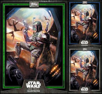Topps Star Wars Card Trader Illustrated 2019 #1 Gray/Blue/Green Boba Fett CTI