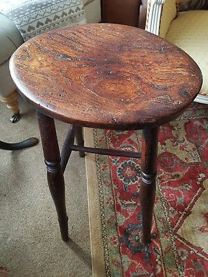 antique early elm high stool