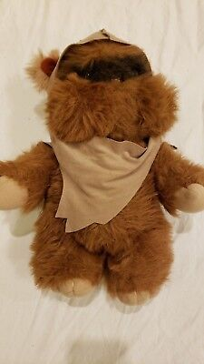 "Vintage Kenner 14"" Wicket the Ewok Plush With Robe Excellent"