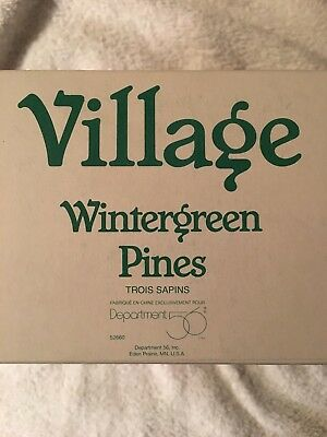 Dept 56 52660 Village Wintergreen Pines Set Of 3 Snow Covered Trees