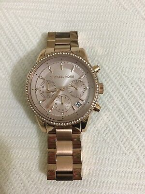 ec8ef237354a MICHAEL KORS MK6357 Ritz Rose Gold-Tone Chronograph Women s Watch ...