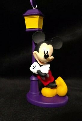 Disney Mickey Mouse Christmas Ornament 90th Anniversary leaning Main St