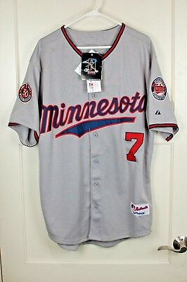 b71dbefb3d0 7 cream authentic flexbase minnesota twins baseball jersey  new authentic  majestic minnesota twins joe mauer 7 jersey sewn size 50
