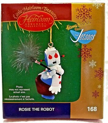 The Jetsons, Rosie the Robot Maid Ornament, w/ Real Feather Duster