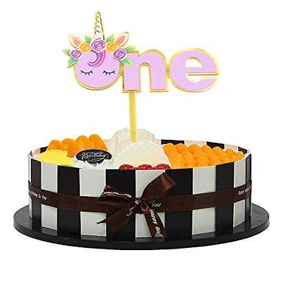 Unicorn Acrylic ONE Cake Topper First Birthday Rainbow Party Decoration