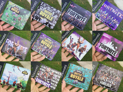 Game Fortnite Battle Royale Wallet Coins Money Cards Bifold Purse 12styles
