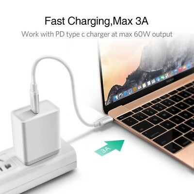 6inch   3A USB Type C To USB C Cable For Samsung iPad Pro 2018 PD Quick Charger