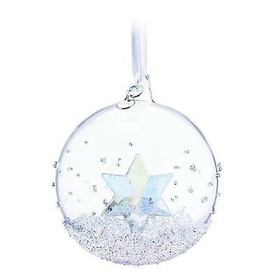 New In Box Large 2014 Swarovski Christmas Annual Edition Ball Ornament #5059023