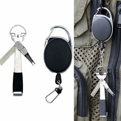4 in 1 Design Fly Fishing Clippers Line Nipper Tying w/ Zinger Quick Knot Tool