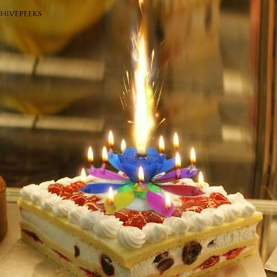 Lotus Candle Birthday Flower Musical Floral Cake Candles W Music Magic US
