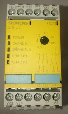 Siemens 3TK2827-1BB40 sirius safety relay with relay release circuits