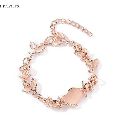 ashion Gold Plated Women's Jewelry Crystal Heart Bangle Pearl Bracelet Hot