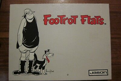 Footrot Flats Set Of 6 Cork Based Placemats In Original Case By Jason 1986
