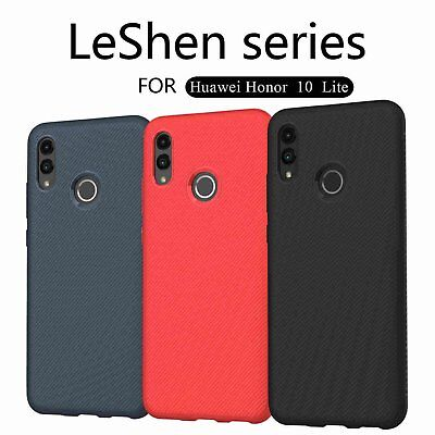 LENUO Dermatoglyph Series Faux Leather TPU Case Cover for Huawei Honor 10 Lite