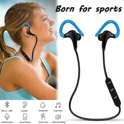Wireless Sport Bluetooth Headset Stereo Headphone Handsfree Earphone Universal