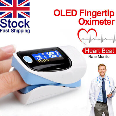 New OLED Fingertip Oxymeter Monitor Blood Oxygen Pulse Oximeter Health Relief UK