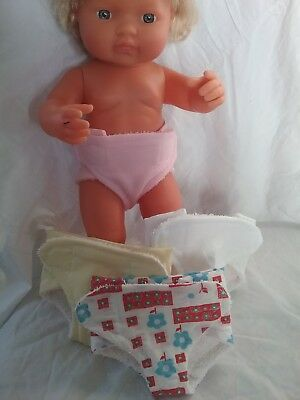 Handmade Nappies for Miniland Doll