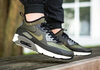 01eb3acf827b00 Nike Air Max 90 Ultra Mid Winter Olive Green Khaki Uk Size 7.5 EUR 42 924458