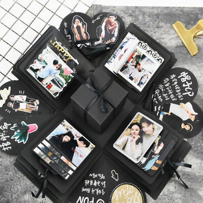 DIY Surprise Love Explosion Box Photo Album for Valentines Day Birthday Gifts