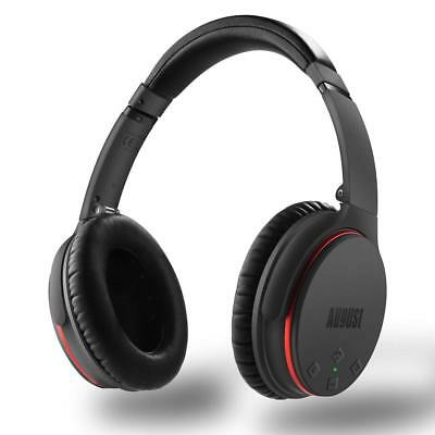 August Active Noise Cancelling Bluetooth Headphones - for Smartphones/Tablet /Co