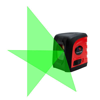 NEW Micro laser level meter mini cross small green light small flat water