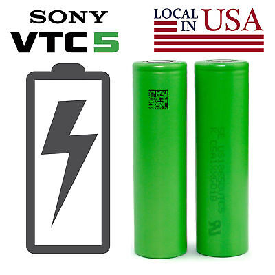 2/4 SONY VTC5 18650 2600mAh High Drain Flat Top Rechargeable Battery For Vape2