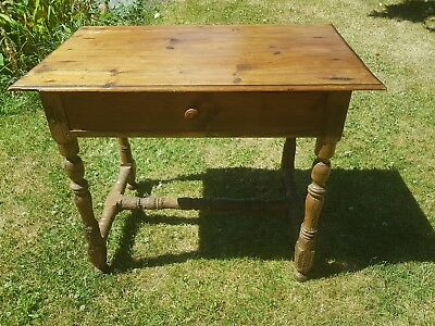 Antique French Country Rustic Console, Desk