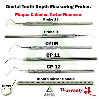 Dental Mouth Teeth Pocket Depth Measuring Periodontal Perio Color Coded Probes