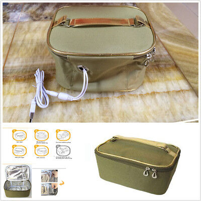 Car Portable Picnic Camping Electric Oven Mini Hot Food Tote Box USB Heating Bag