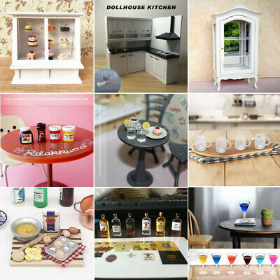 Various Doll House Furniture Kitchen Accessories for 1:12 Dollhouse Miniatures