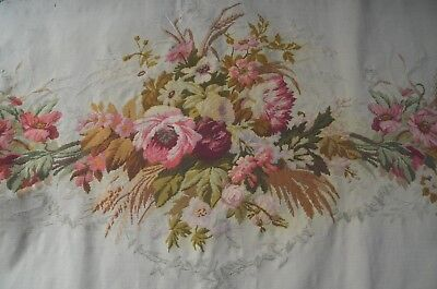 Antique French needlepoint tapestry