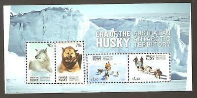 2014   Australian Antarctic Territory  -  Sg  Ms 245  - Era Of The Husky  -  Umm