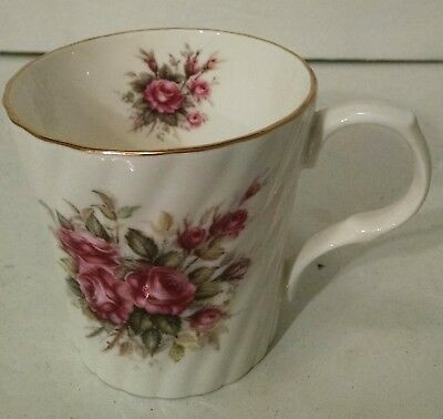 Antique Royal Victorian Tea Cup Bone China Gold Rim Pink Roses Stamped England