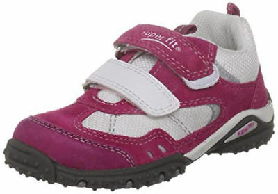 Superfit Girls Kids Sports 4 Mini G Trainers Sneakers PE Shoes Pink White Strap