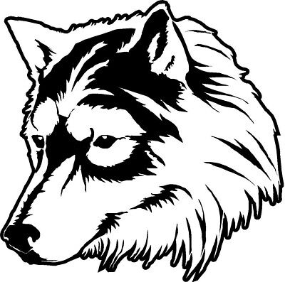"LARGE 18/"" wolf head tribal vinyl graphic decal car bonnet side sticker wall art"