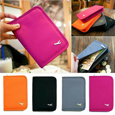 Women ID Card Passport Holder Ticket Document Protector Cover Case Bag Wallet