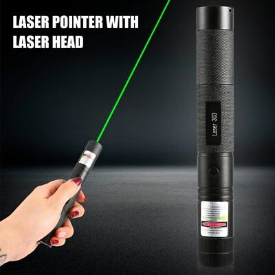 Green Laser Pointer Pen Beam 532nm Light Lazer Visible Charger 50 miles Military