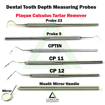 Hygiene Plaque Calculus Tartar Remover Scraper Color Coded Perio Probes Dental
