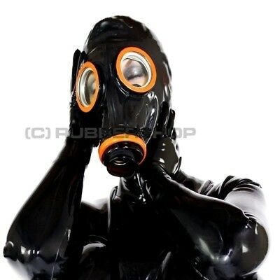 Gas Mask For Latex Rubber Hood Mask Bottom Trousers Pants Fetish Cosplay Larp