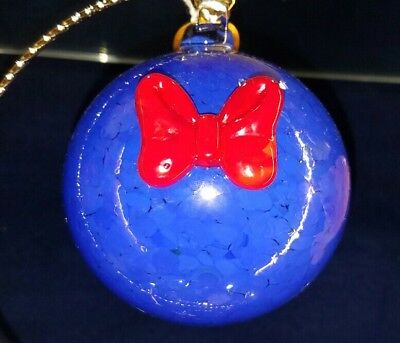 New Disney Parks Arribas Brothers Donald Duck Blown Glass Christmas Ornament!