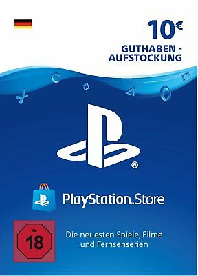 10€ PSN DE Playstation Network Code Card 10 Euro € EUR | PS4, PS3, Vita Guthaben